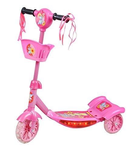 Kinderroller Scooter Roller Tretroller Cityroller Licht + Musikfunktion #2614, Farbe:Rosa