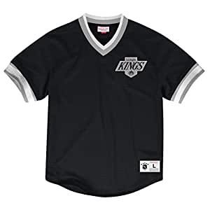 Los Angeles Kings Mitchell & Ness NHL Men's Mesh V-neck Jersey Maglia Shirt Camicia