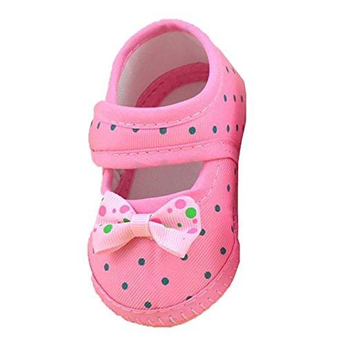 Zolimx Baby Bowknot lädt weiche Krippe Schuhe (13, Rosa) (Säuglings-camo-kleidung)