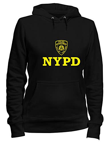 T-Shirtshock Kapuzen-Sweatshirt Frauen Schwarz DEC0233 NYPD Police Department City of New York -