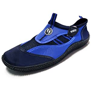 Aqua Shoes - Wet Shoes for Adults Neoprene Water Shoes (Blue/Navy, UK 1)