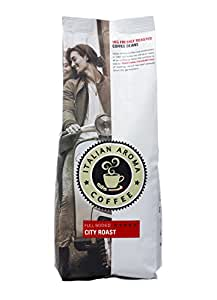 Italian Aroma Coffee CITY ROAST (Whole Bean 1KG) – dark, rich and full-bodied - brings you the traditional flavours of Italian coffee