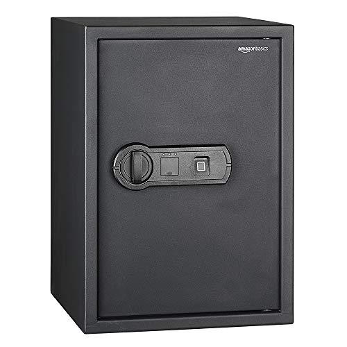 AmazonBasics - Caja fuerte con lector biométrico de huella dactilar - 50...