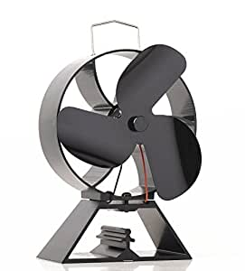 3 blade heat powered stove fan for wood log burner. Black Bedroom Furniture Sets. Home Design Ideas