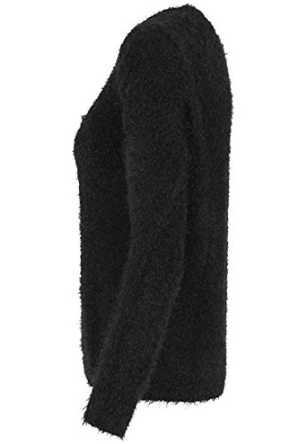 URBAN CLASSICS - Ladies Nylon Feather Crew (black) Black