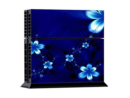 PlayStation 4 - Kit de skins (fundas adhesivas) para consola + 2 mandos de control – Blue Flower