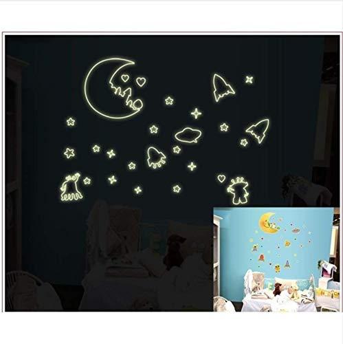 Neue Neueste Ankunft Sterne Mond Sonne Im Dunkeln leuchten 3D Leuchtende Wandaufkleber Fluoreszierende Abziehbild - Mond Sterne Sonne Und Badezimmer