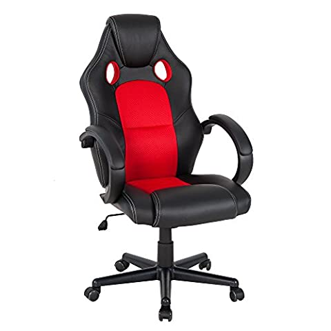 Vie Carver imitation cuir Executive Chaise de bureau pivotant Chaise de bureau d'ordinateur