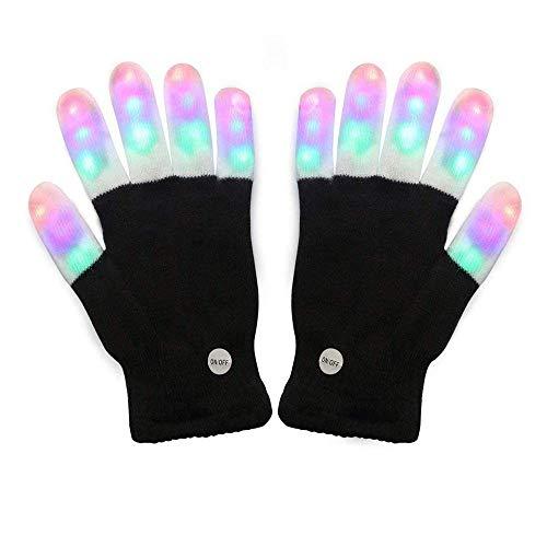 MMM1 Kinder Licht Handschuhe Kinder Finger Licht blinkende LED warme Handschuhe mit Lichtern für Halloween Geburtstag Licht Party Weihnachten Xmas Dance Geschenke