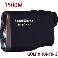 Jagd Entfernungsmesser, mit Topseller Wasserdicht Golf Laser-Entfernungsmesser/Geschwindigkeit, Höhe/Winkel/horizontale Abstand/Nebel Maßnahme, Fahnenstange Lock, Scannen, Test, Golf Slope Flugbahn Korrektur