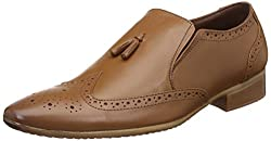 egoss Mens Tan Leather Formal Shoes - 9 UK/India (43 EU)