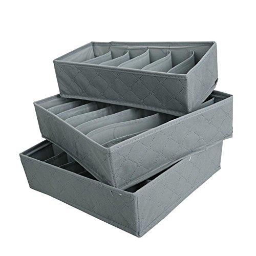 Blue Vessel 3pcs Unterwäsche Socken Bra Aufbewahrung Underwear Socks Bra Organizer Storage Box Faltbare Organizer