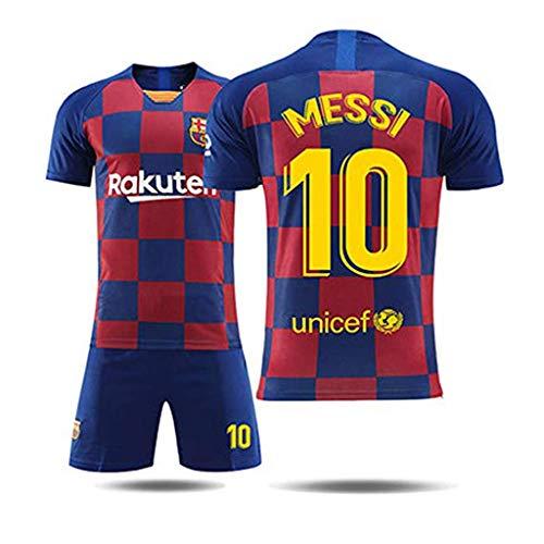 GSPURS Barcelona # 10 Messi Fußball Trikot Männer-Sport Fußball Trikot für Jungen Trikots Kinder Männer Frauen Fußballtraining-1-XL