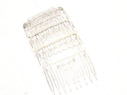 La Peach Fashions Damen-Haarkamm, große Seitenkämme, 5 cm, handelsübliche Farbauswahl, 4 Stück