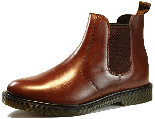 Oaktrak Winterhill Leather Chelsea Mens Dealer Derby Boots Black Tan Bordo Brown Oxblood