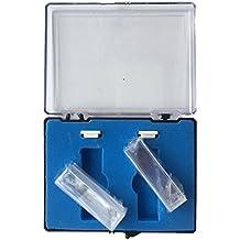 Cubeta de cuarzo con tapa de PTFE, 2 pcs estándar de 10 mm 3,