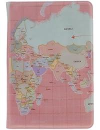 Accesorios Viaje Fundas Pasaporte Caja Sostenedor Cubierta Organizador Protector Cartera Tarjetas Identificación PU Mapa del Mundo