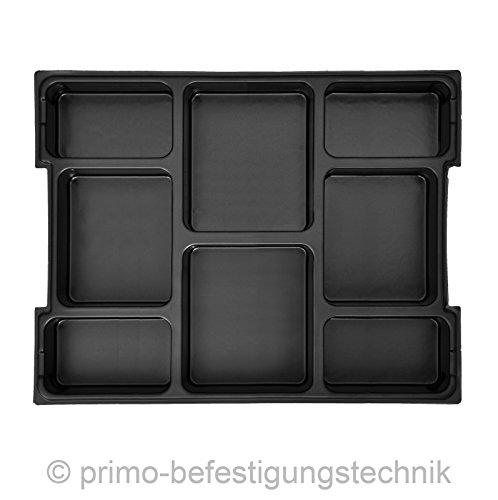 8fach Einsatz für Werkzeugkoffer L-Boxxen Koffer Größe 1