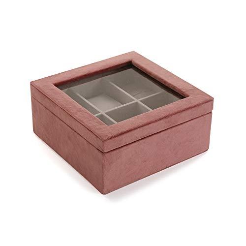 Versa Uhrenbox aus Samt, Terrakotta, Mehrfarbig, Nicht anwendbar