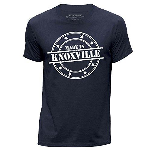STUFF4 Uomo Girocollo T-Shirt/Made In Knoxville Blu Navy