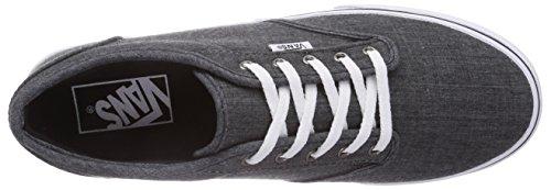 Vans - Atwood, Sneaker basse Donna Grigio (Grau ((Linen) black/w FHO))