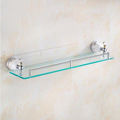 Ensemble de salle de bain en verre de style européen, étagère multifonctionnelle à une seule pièce Étagère (Couleur : A)