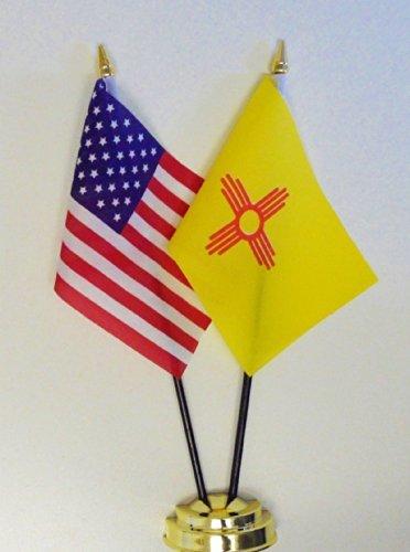 1000 Flags état du Nouveau-mexique et des États-Unis d'amitié Drapeau de table écran 25 cm (25,4 cm)