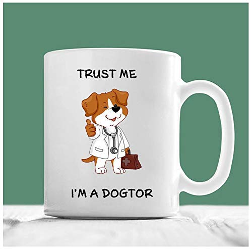 sdg3yjhsd Vet Mug, Trust Me I'm A Dogtor, Dog Doctor, Doctor Mug, Vet Gifts, Vet Student Gifts, Veterinarian Gifts, Coffee Mugs For Veterinarians
