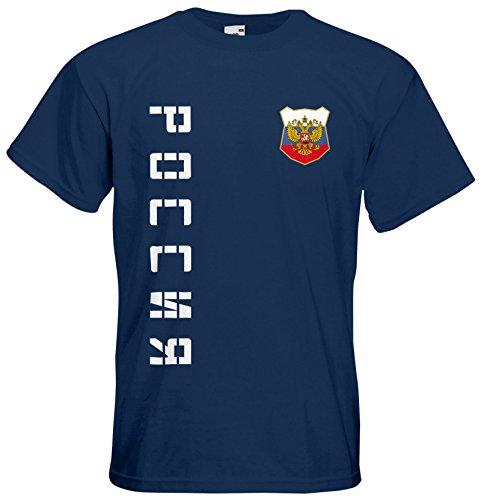 Russland Russia T-Shirt Trikot Name Nummer Navyblau