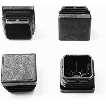 Tube carr/é Insert Noir 20mmx20mm 50pcs Ogquaton Pieds de Chaise de qualit/é sup/érieure avec Capuchon de Fermeture en Plastique