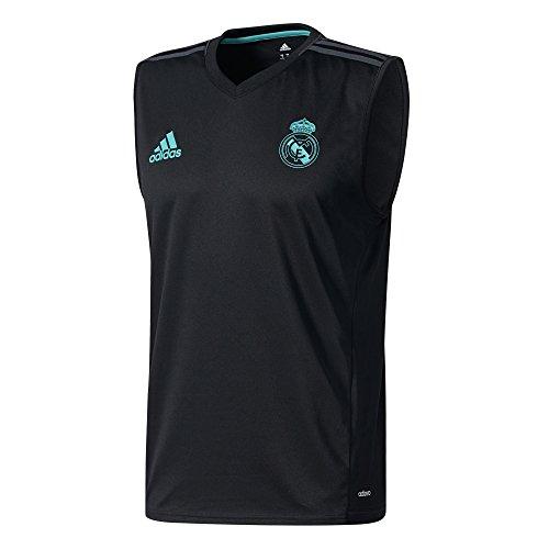 adidas SLL JSY Camiseta Real Madrid CF Temporada 2017/2018, Hombre, Negro, XS