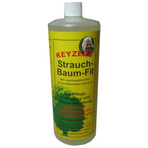 Keyzers Strauch-Baum-Fit 1 Liter mit Messbecher - Zur Pflege, Kräftigung und Pflanzenstärkung gegenüber Schadorganismen und gegen Pilzbefall