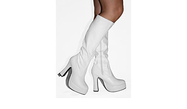 70's style knee high boots uk