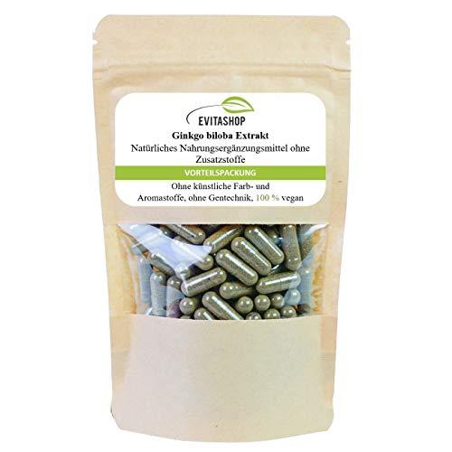 Ginkgo Extrakt Kapseln (Ginkgo biloba) | 3 Packungen = 180 x 300 mg | Ohne Zusatzstoffe | 100% vegan | Hochdosiertes Extrakt | GMP-zertifiziert | Made in Germany