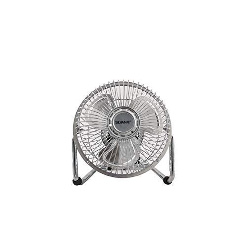 Silvan Ventilatore da Pavimento e Tavolo Pale metalicas 6 20 W, 2 velocità di Aria.
