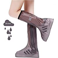 Temptation at dusk zy Waterproof Rain Shoe Cover For Men Women Shoes Protector Reusable Boot Zippers Boot Covers Rainy Day Boots Travel Equipment