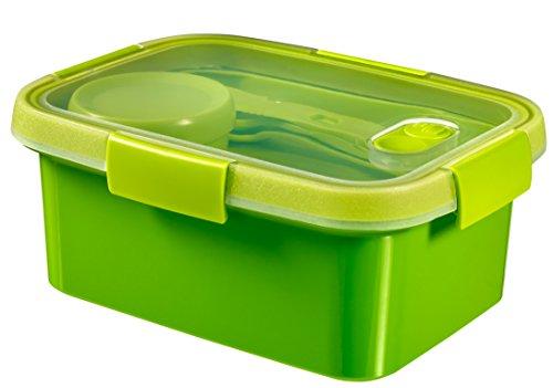 Curver smart to go lunch kit rettangolare - 1,2lt - 20x15x9h verde