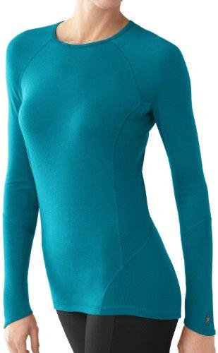 Smartwool Sous-vêtement à manches à manches longues Women's NTS Light 195Crew Vert - Teal (bleu)