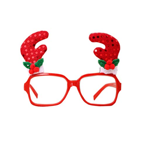 PanDaDa Novelty Xmas Costume Decorations Gifts for Kids and Adults Funny Decorative Eyeglasses Frame for Party