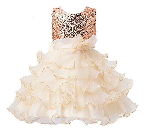 Das beste Mädchen kleines Brautkleider Hochzeitskleider Prinzessin Paillette Abendkleid Tutu Kleid (Kind Organza Türkis Tutu)