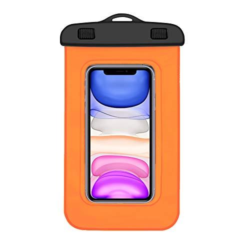 Funda impermeable Xiaomi Mi A2 Lite certificado IPX8 bolsa para Xiaomi Mi A2 Lite funda acuatica Xiaomi Mi A2 Lite funda sumergible Xiaomi Mi A2 Lite funda resistente al agua Xiaomi Mi A2 Lite naranja