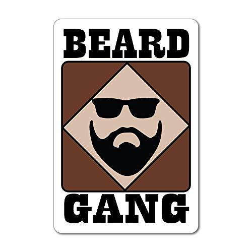 Beard Gang Facial Hair Men Hairdresser Salon Sunglasses cool Car Sticker Decal