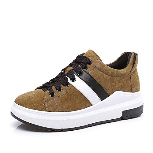 Calzature Donna,Cintura Di Pelle Scrub Scarpe,Sneakers Di Cuoio Spesse,Scarpe Casual B