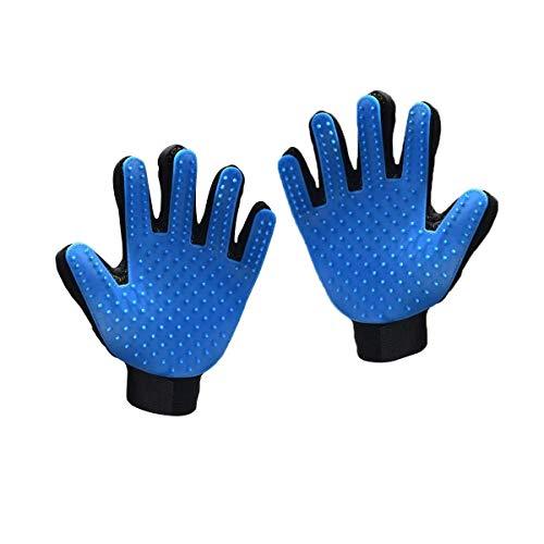 Cutema 2pcs-Right Hand Haustier-Reinigungs-Bürsten-magischer Handschuh, Blau (2-er Pack)