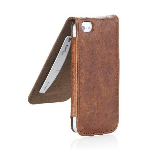 Pipetto iPhone 6 / iPhone 6S Hülle, Apple iPhone 6 / iPhone 6S Plus Hülle Leder Folio Brieftaschen Cover 12 cm schlank + Kartenhalter (Braun) Braun