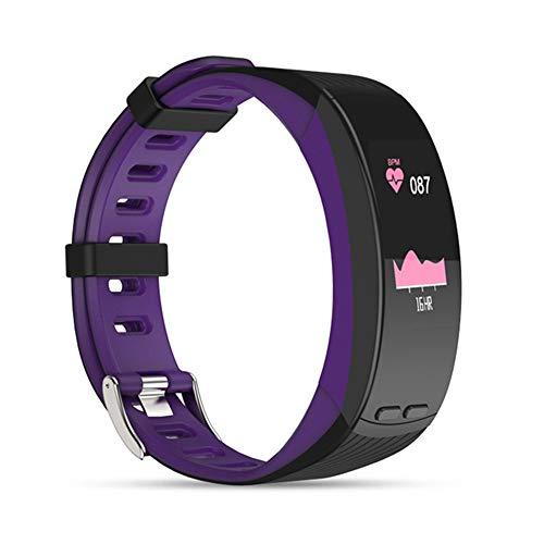 QUARKJK Professionelle GPS Sport Armband Smart Band Farbanzeige Pulsmesser Armband Barometer Aktivität Fitness Tracker,Purple
