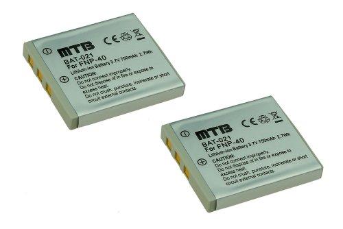 2x Batterie per FujiFilm NP-40 / Pentax D-Li8, D-Li102 / Samsung SLB-0737/0837... (vedi lista)