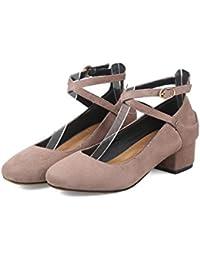 Longra Donna Una moda scarpe pedale signora (EU Size:40, Blu)
