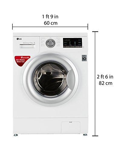 LG 7.5 kg Fully-Automatic Front Loading Washing Machine (FH0G7EDNL12, Blue White)