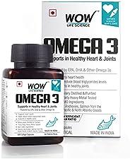 WOW Omega-3 Fish Oil Triple Strength 1000mg (550mg EPA; 350mg DHA; 100mg Other Omega 3 Fatty Acids) - 60 Capsu
